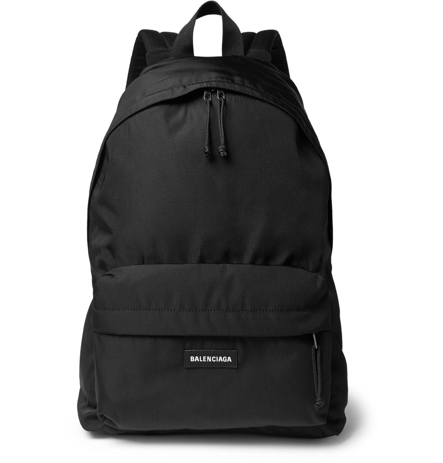 Photo: Balenciaga - Explorer Logo-Detailed Canvas Backpack - Black