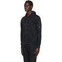 C.P. Company Black Garment-Dyed Zip Hoodie