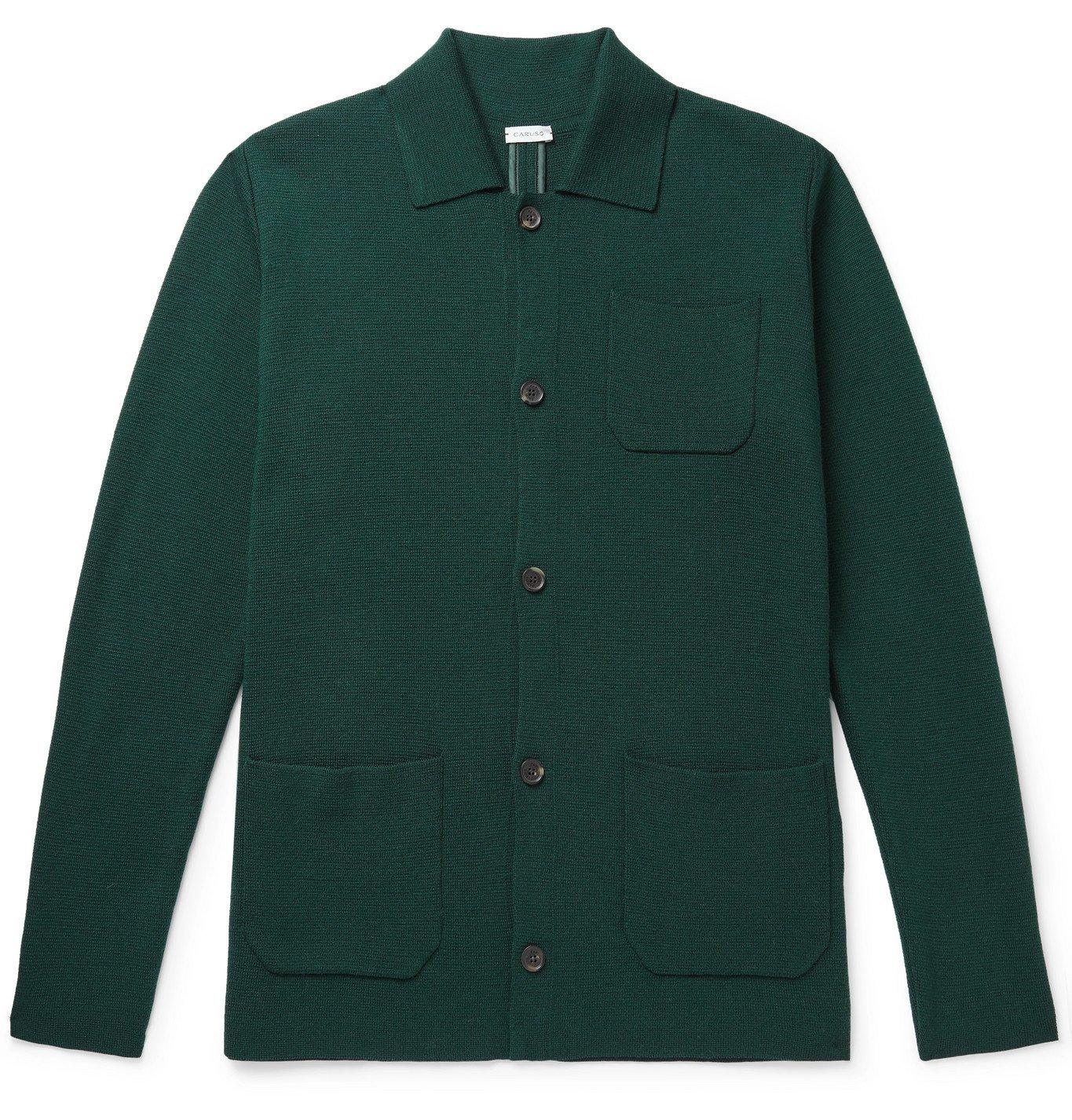 Photo: Caruso - Wool Cardigan - Green