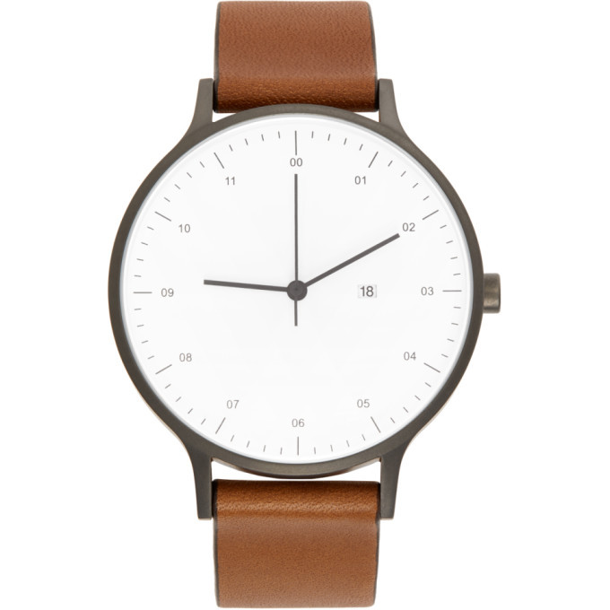 Photo: Instrmnt Gunmetal and Tan Leather Everyday Watch