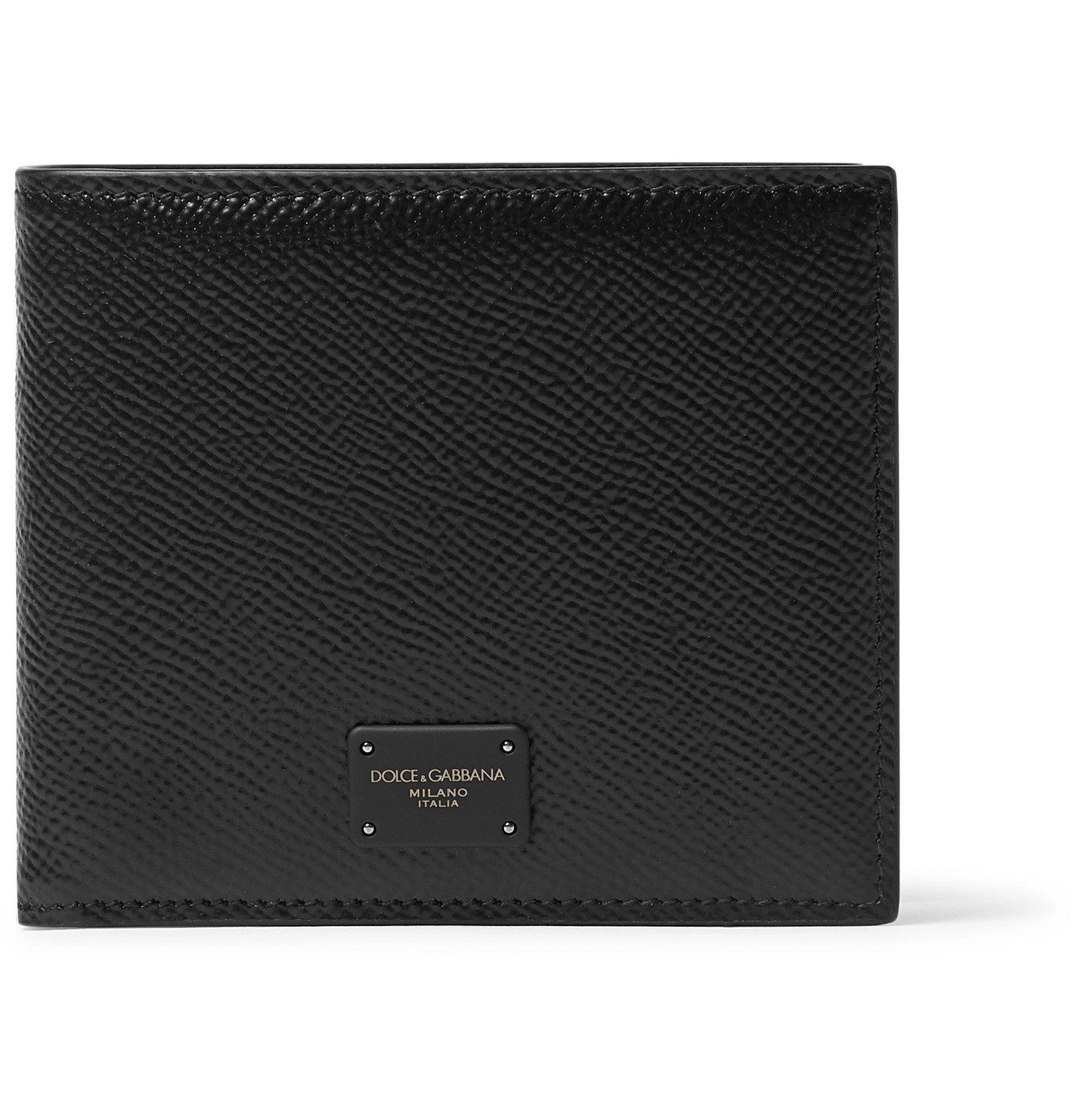 Photo: Dolce & Gabbana - Logo-Appliquéd Full-Grain Leather Billfold Wallet - Black