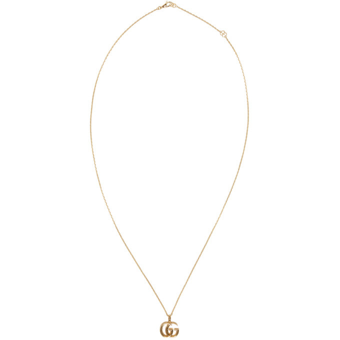 Photo: Gucci Gold GG Running Necklace