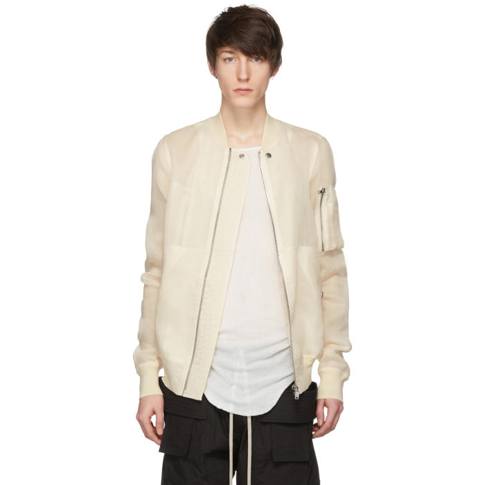 Photo: Rick Owens Off-White Flight Bomber Jacket