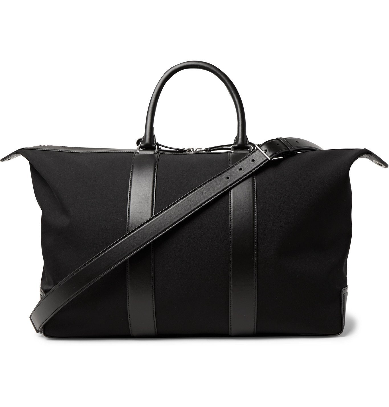 Photo: Mulberry - Leather-Trimmed Nylon-Twill Holdall - Black