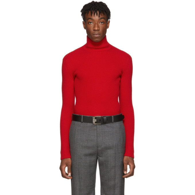 Photo: Balenciaga Red Knit Turtleneck