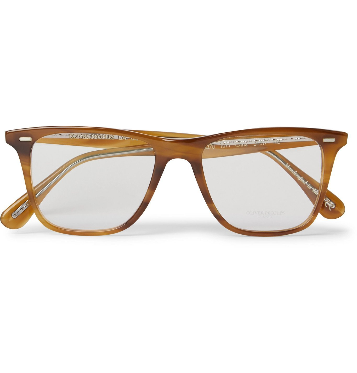 OLIVER PEOPLES - Ollis Square-Frame Acetate Optical Glasses - Brown