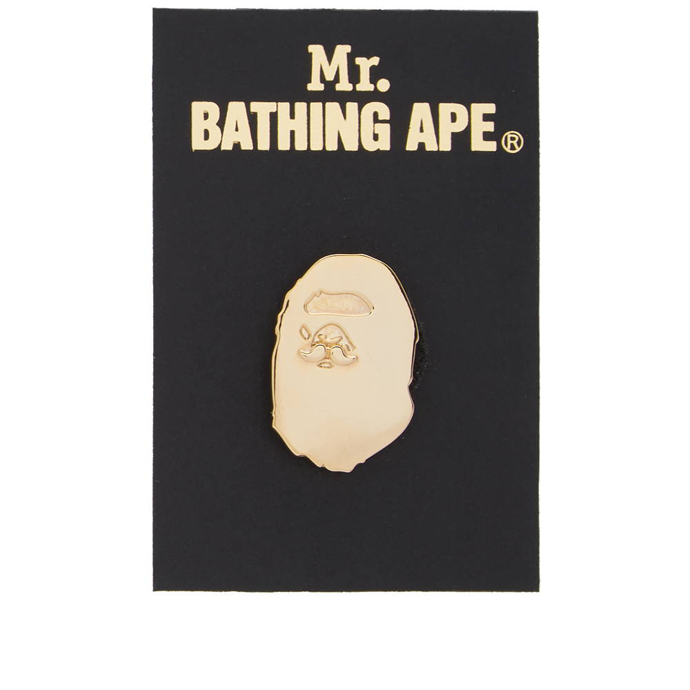 8c584c52 Mr. Bathing Ape Ape Head Pin Mr. Bathing Ape