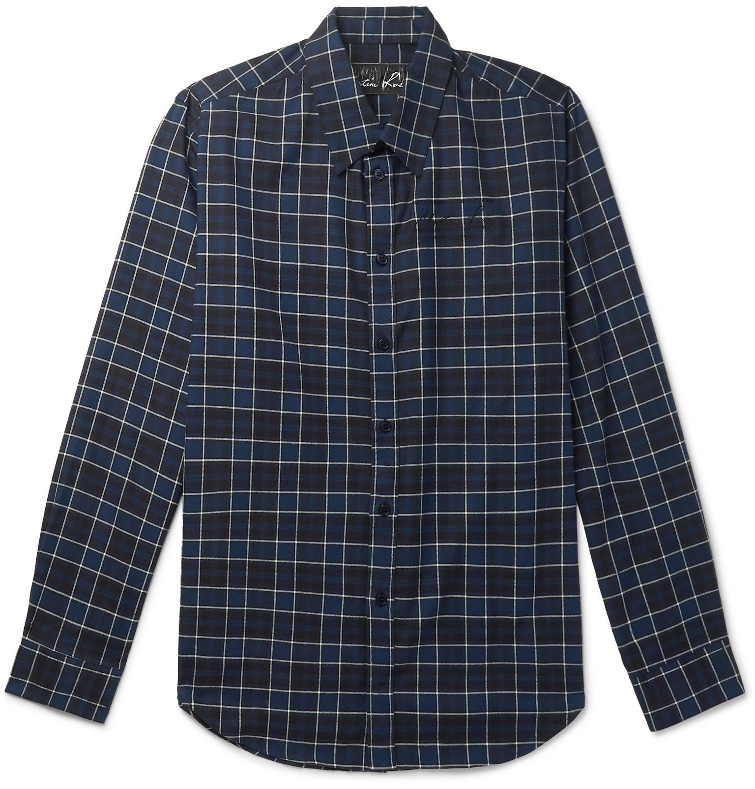 Martine Rose - Checked Cotton-Flannel Shirt - Blue