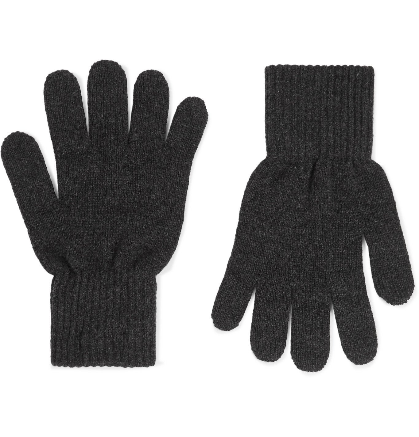 Photo: A.P.C. - Merino Wool and Cashmere-Blend Gloves - Gray