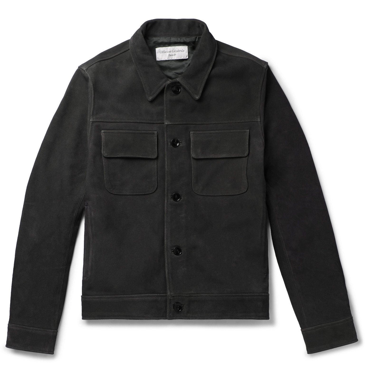 Photo: Officine Generale - Otto Suede Jacket - Gray
