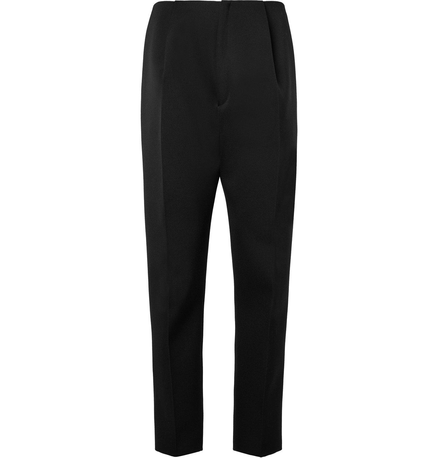 Bottega Veneta - Black Slim-Fit Pleated Wool Trousers - Black