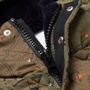 Sacai - Dr. Woo Hooded Bandana-Print Quilted Cotton-Corduroy and Shell Jacket - Green
