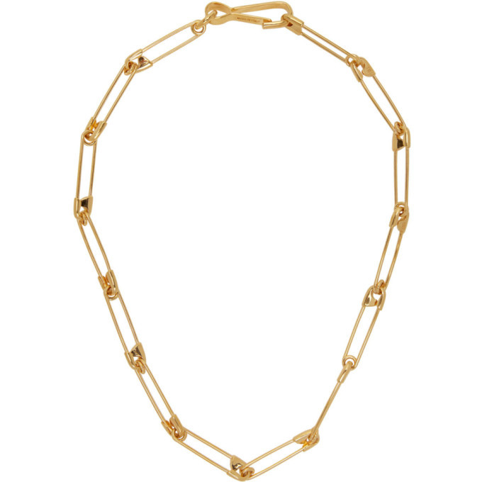 Photo: Balenciaga Gold Punk Necklace