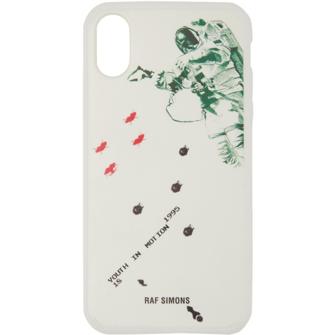 Photo: Raf Simons White Youth In Motion iPhone X Case