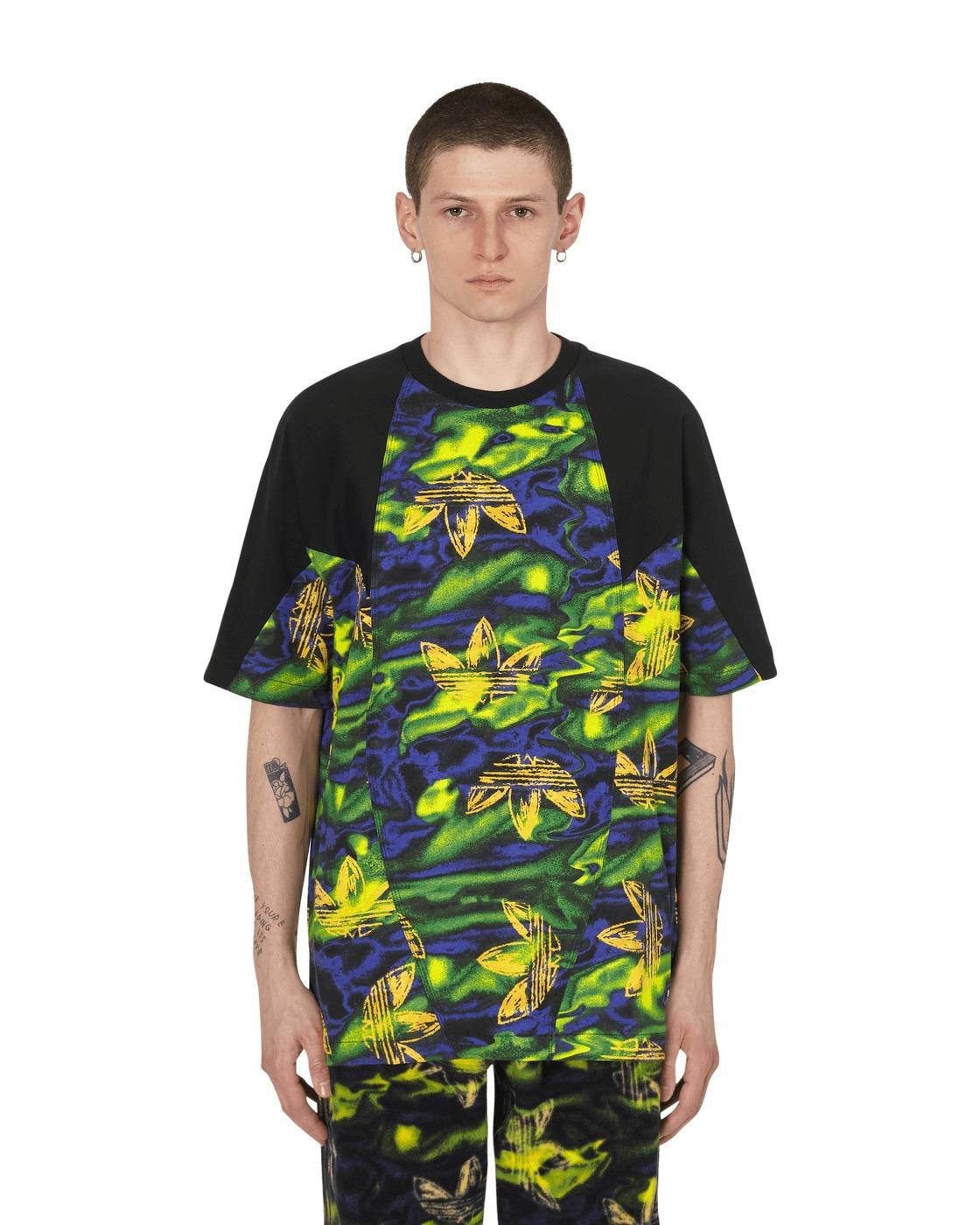 Photo: Adidas Originals Big Trefoil Printed T Shirt Multi
