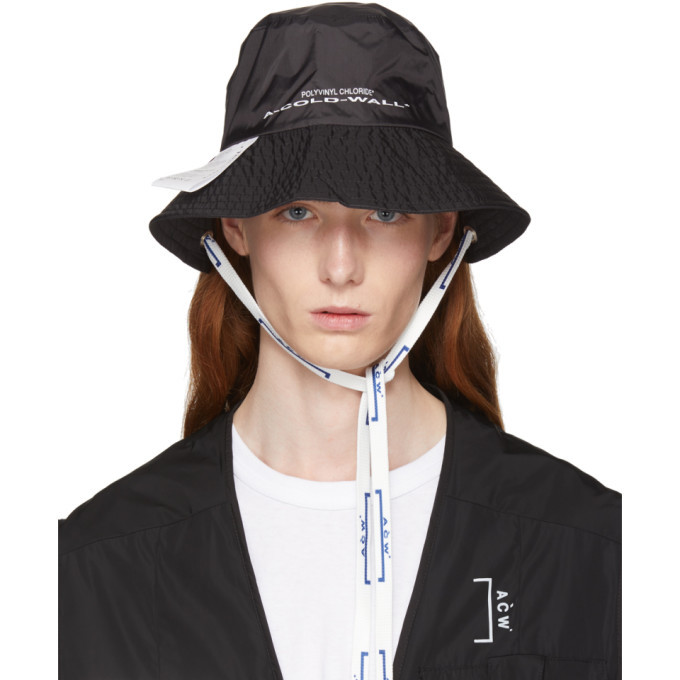 A-Cold-Wall  Black Eyelet Bucket Hat A-Cold-Wall  0c4529471be2