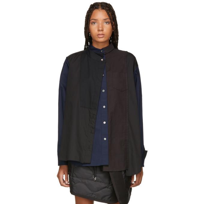 Photo: Sacai Black Panelled Shirt