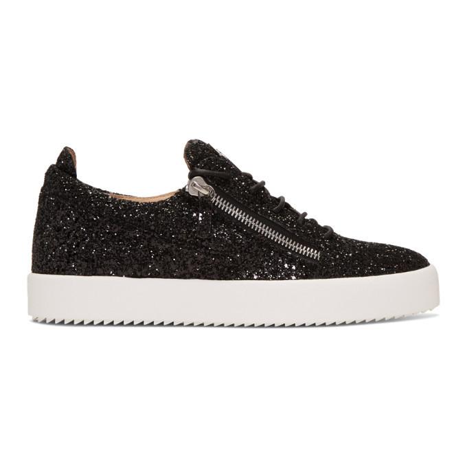 Photo: Giuseppe Zanotti Black Glitter May London Frankie Sneakers