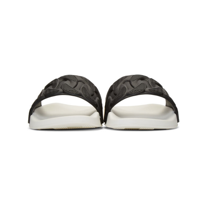 Versace Black and White Chain Pool Slides