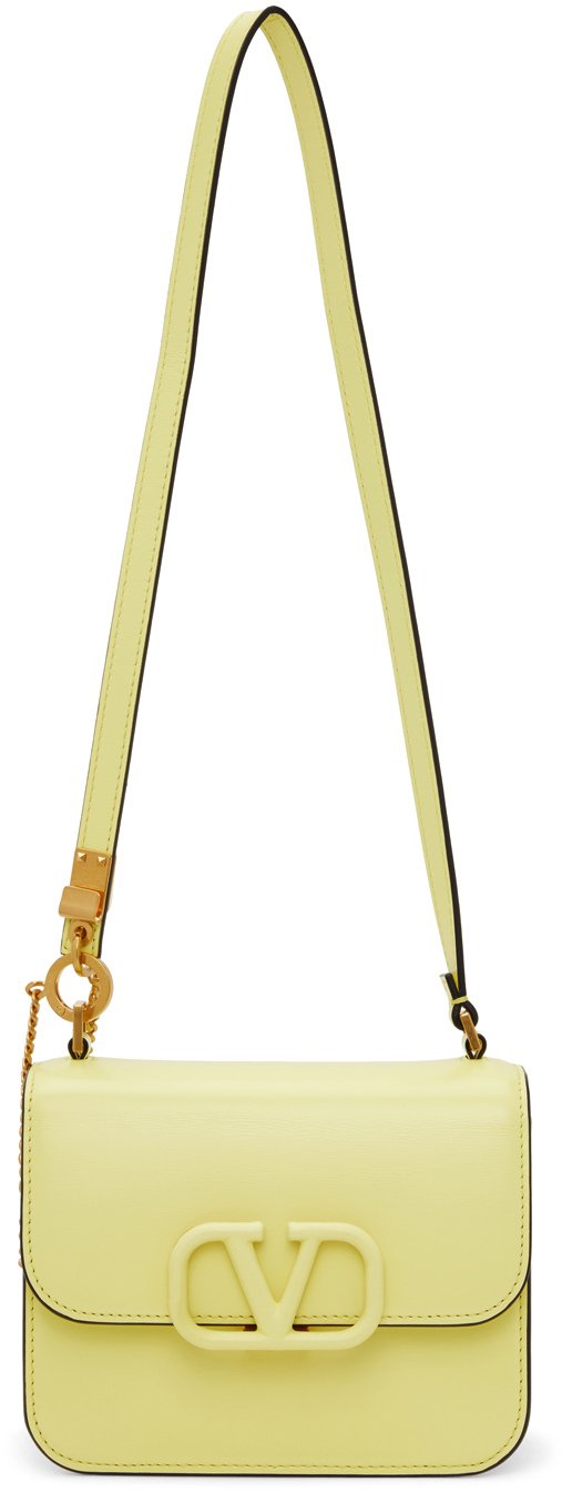 Photo: Valentino Garavani Yellow Small VLogo Shoulder Bag