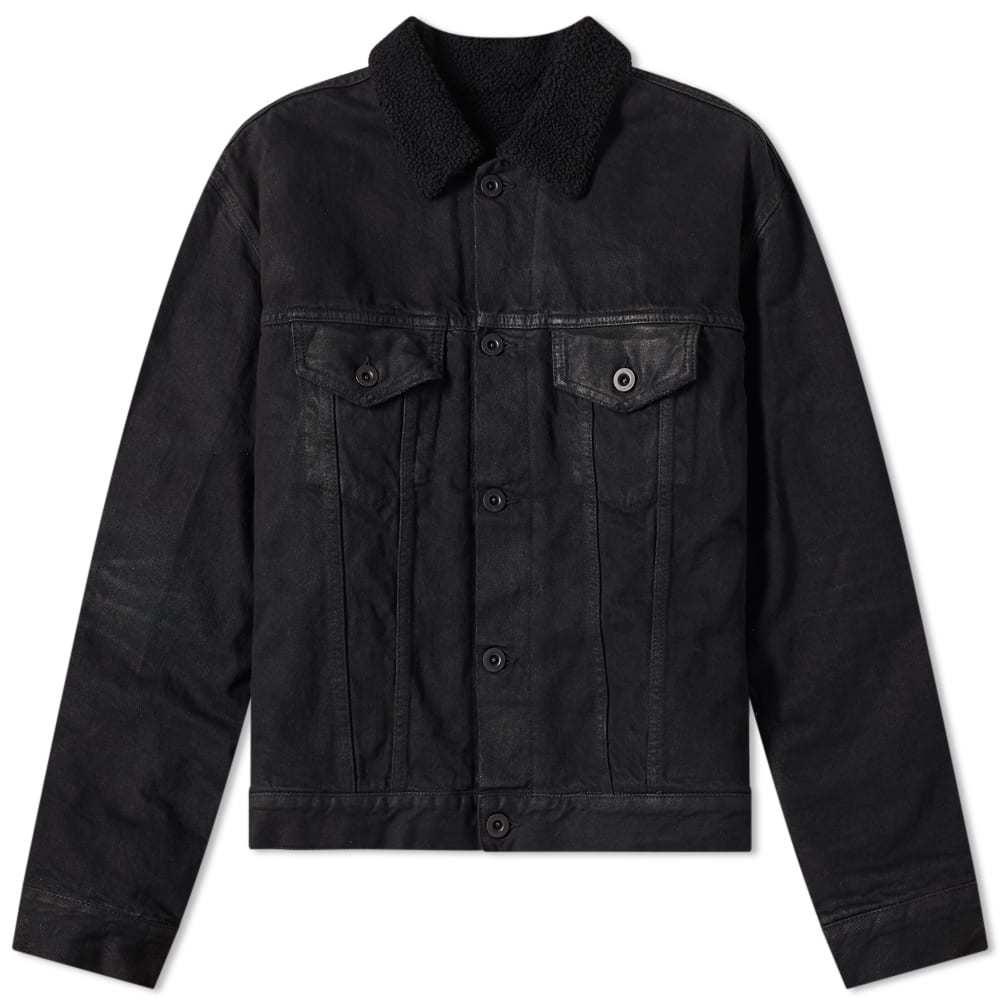 Photo: Unravel Project Wax Shearling Denim Jacket