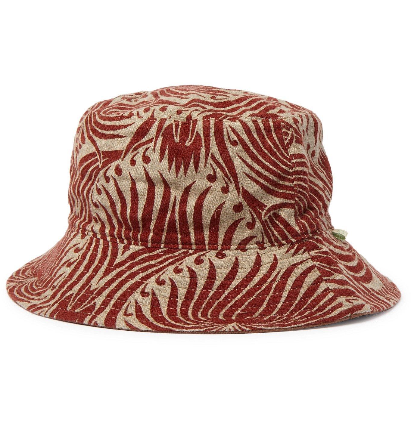 Photo: LOVAT&GREEN - Reversible Printed Cotton Bucket Hat - Brown