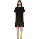 Sacai Black Classic Cotton Knit Dress