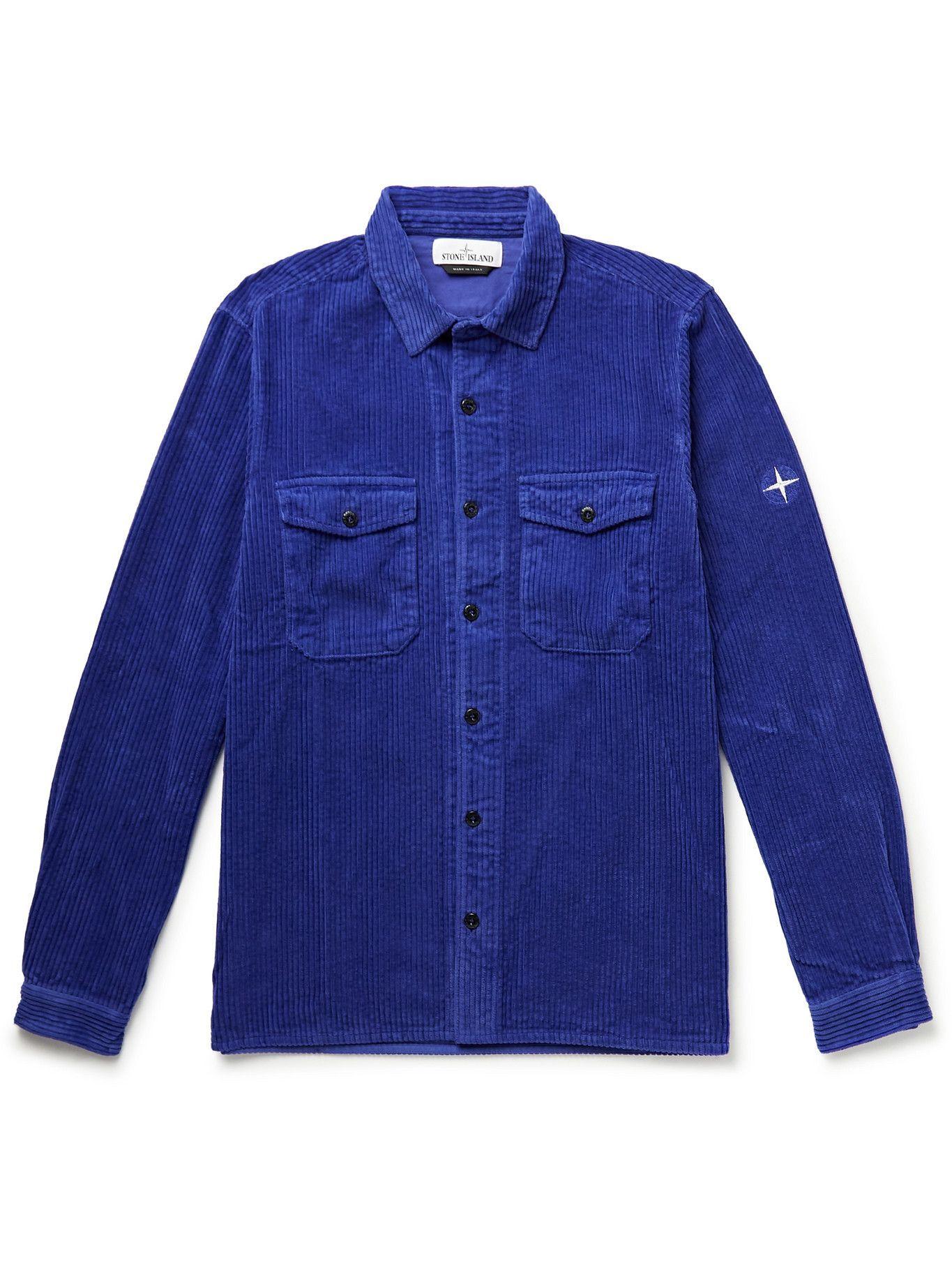 Photo: Stone Island - Cotton-Corduroy Overshirt - Blue