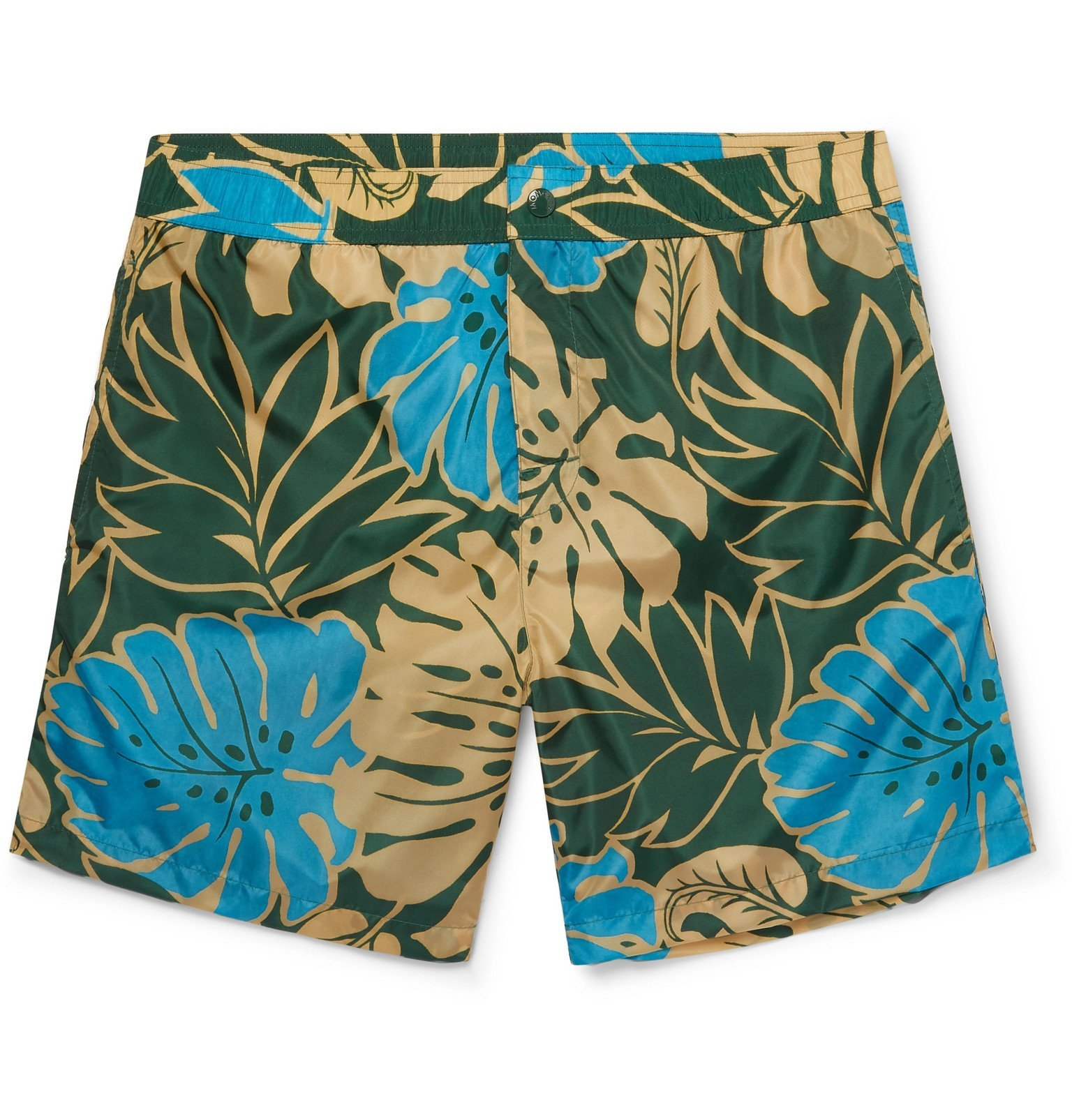 Photo: Moncler - Mid-Length Printed Swim Shorts - Blue