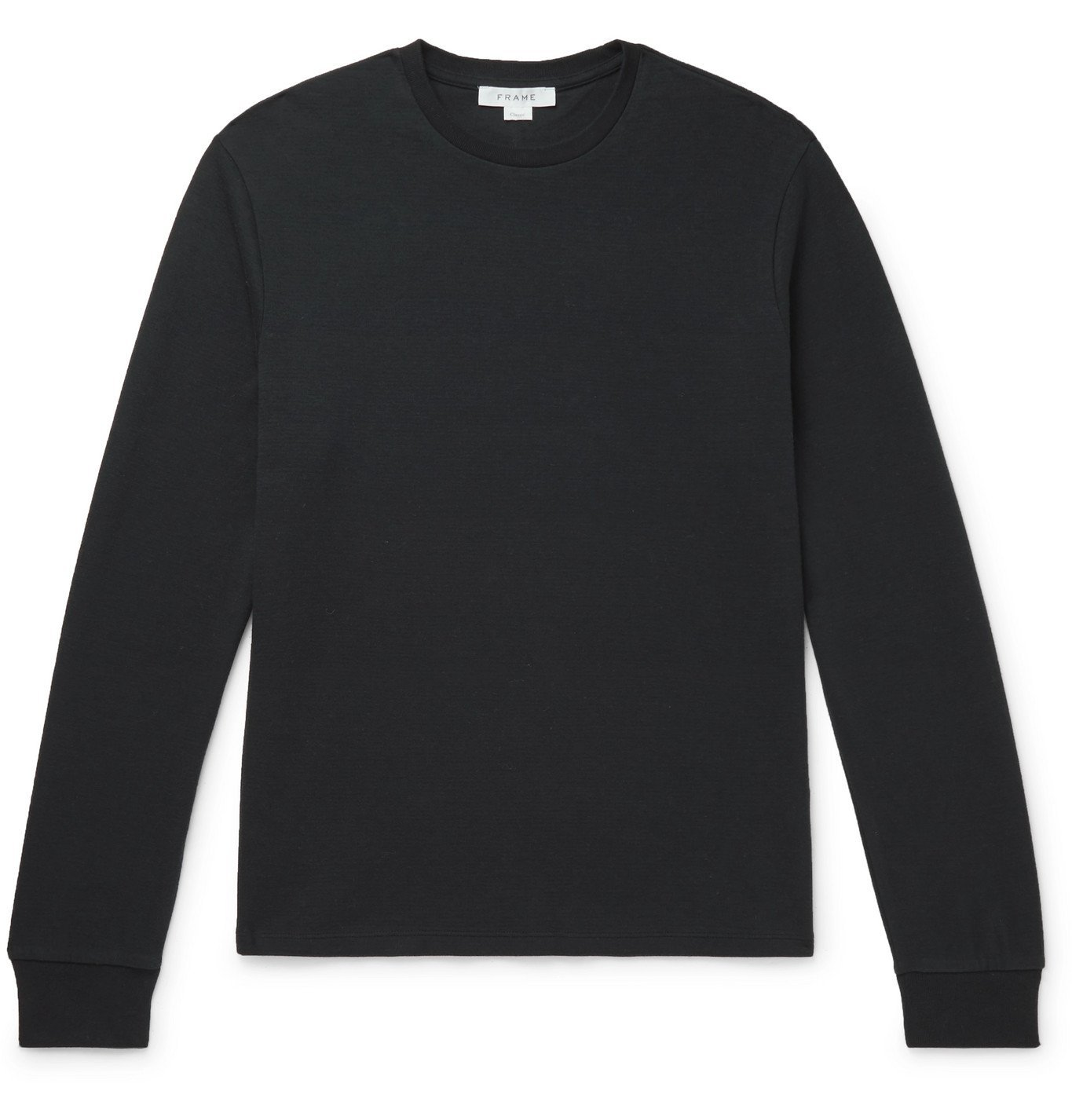 Photo: FRAME - Cotton-Jersey T-Shirt - Black