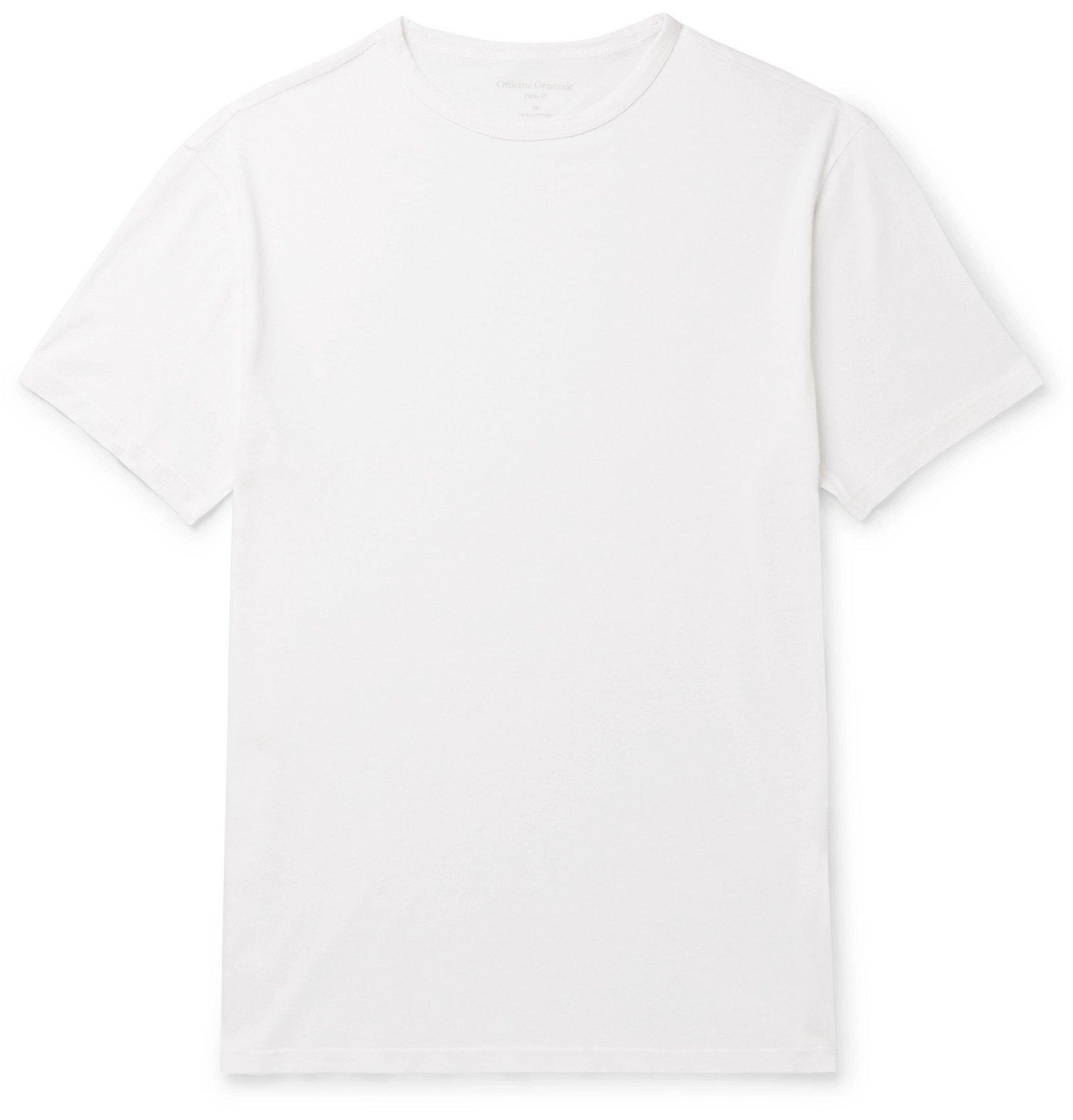 Officine Generale - Cotton-Jersey T-shirt - White