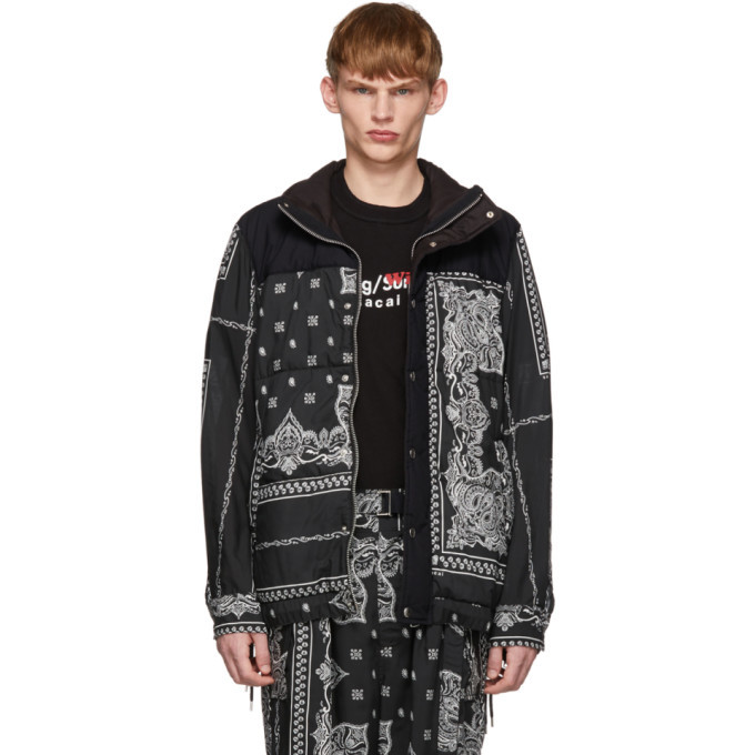 Photo: Sacai Black Bandana Print Jacket