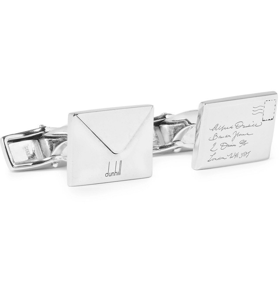 Dunhill - Envelope Silver-Tone Cufflinks - Men - Silver