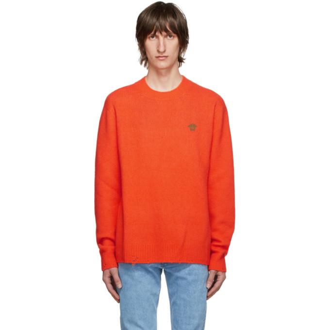 Photo: Versace Orange Cashmere and Silk Sweater