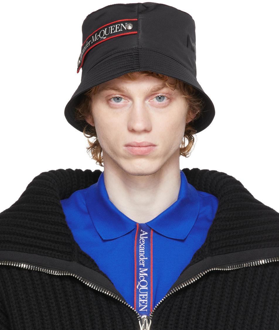 Photo: Alexander McQueen Black Graffiti Logo Bucket Hat