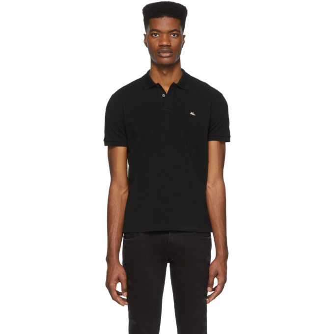 Photo: Etro Black Logo Polo