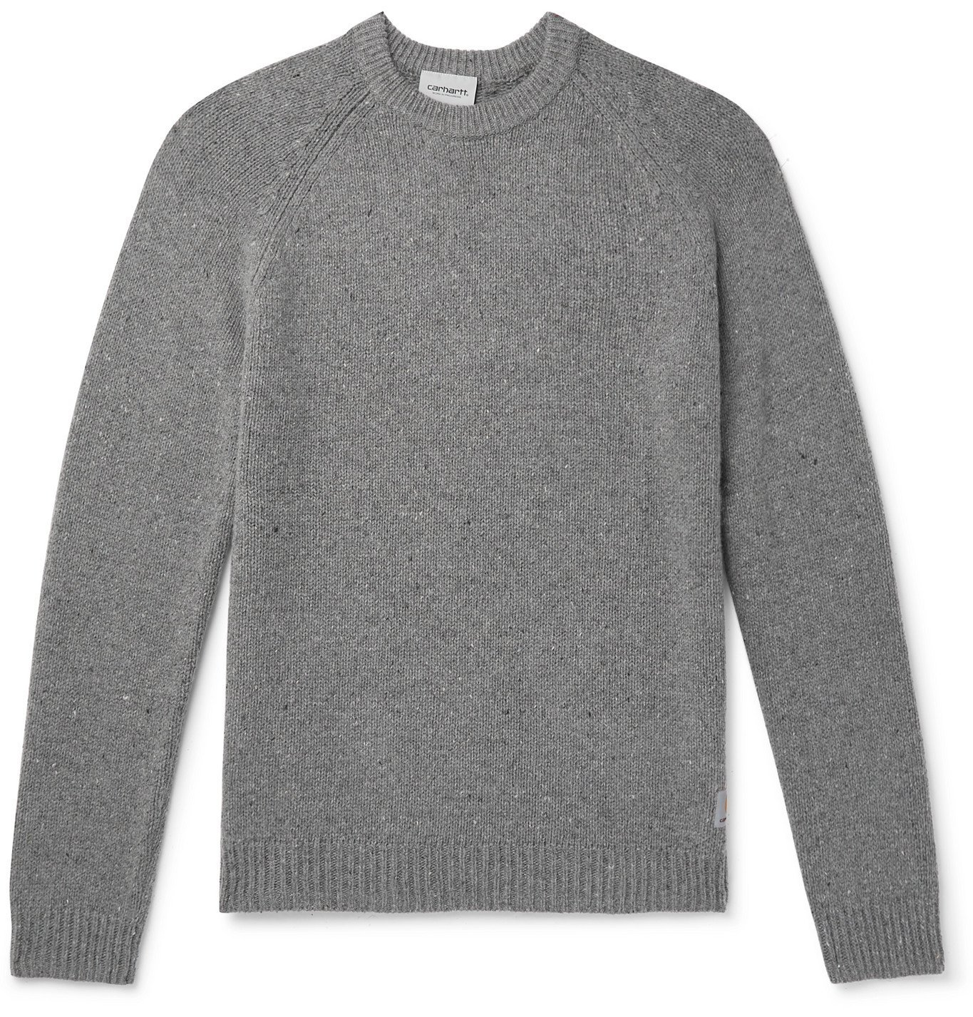Photo: CARHARTT WIP - Anglistic Mélange Wool-Blend Sweater - Gray