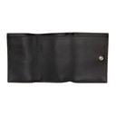 Smythson Black Mini Panama Trifold Wallet