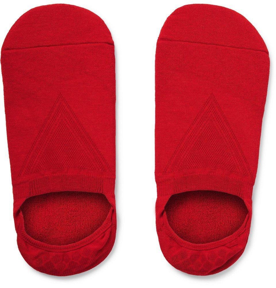 Photo: Falke - Cool Kick Stretch-Knit No-Show Socks - Red