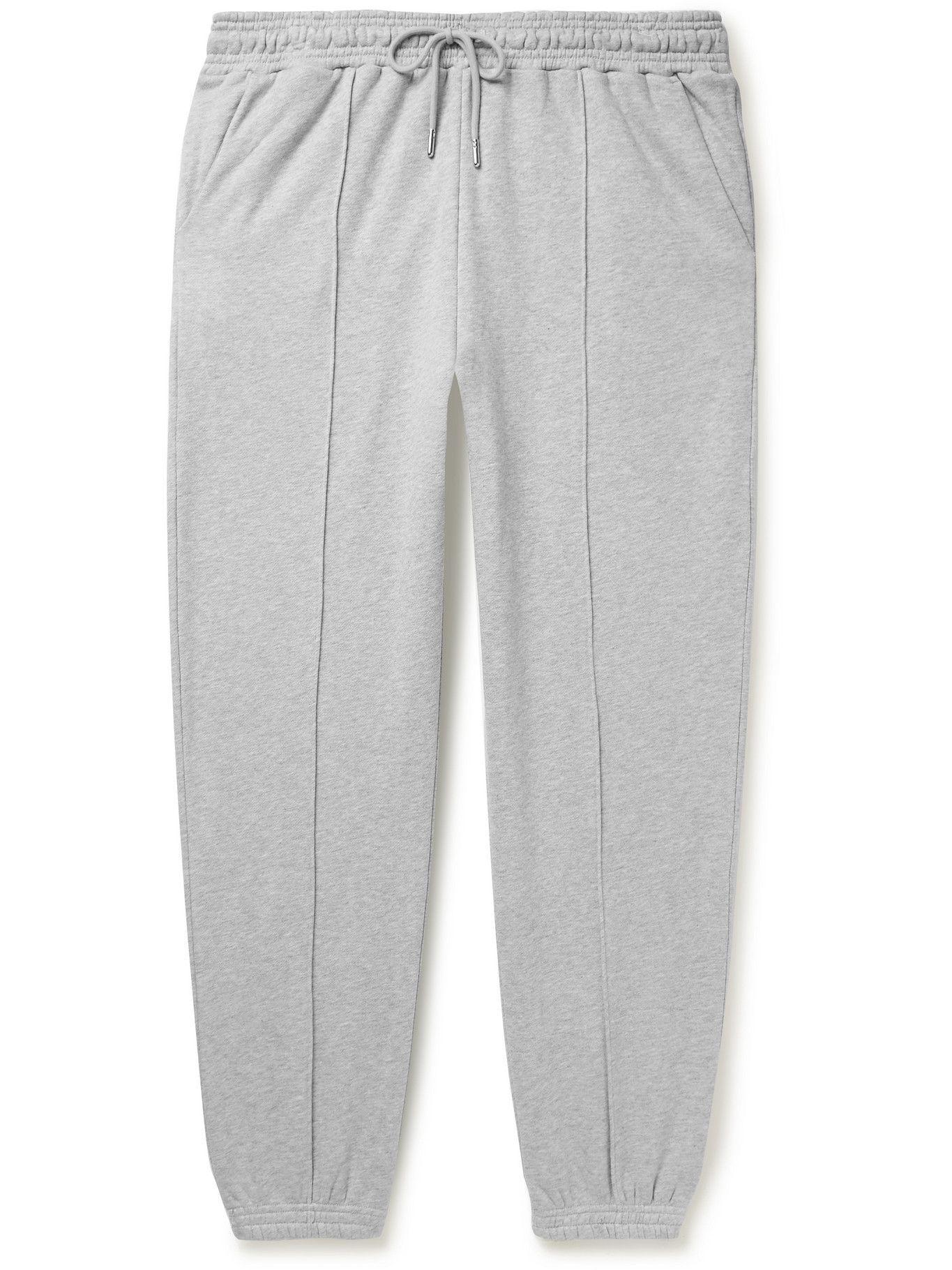 Photo: Ninety Percent - Tapered Organic Cotton-Jersey Sweatpants - Gray