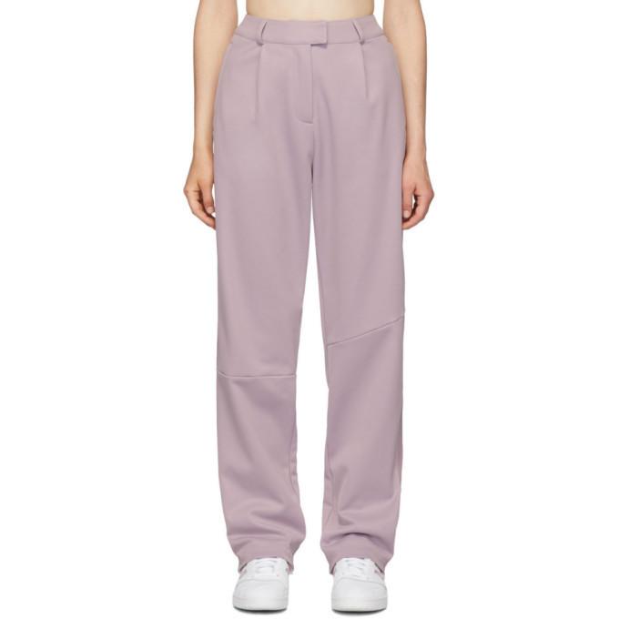 adidas Originals by Danielle Cathari Purple Pique Trousers