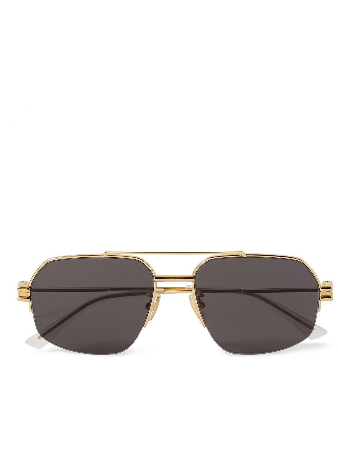 Photo: Bottega Veneta - Aviator-Style Gold-Tone Sunglasses