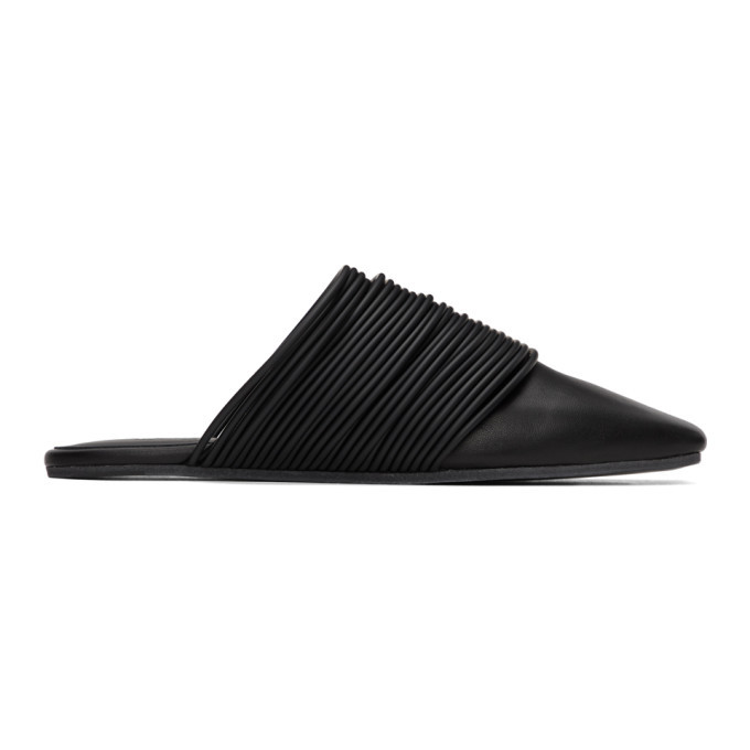 Photo: MM6 Maison Margiela Black Multi Strap Slip-On Loafers