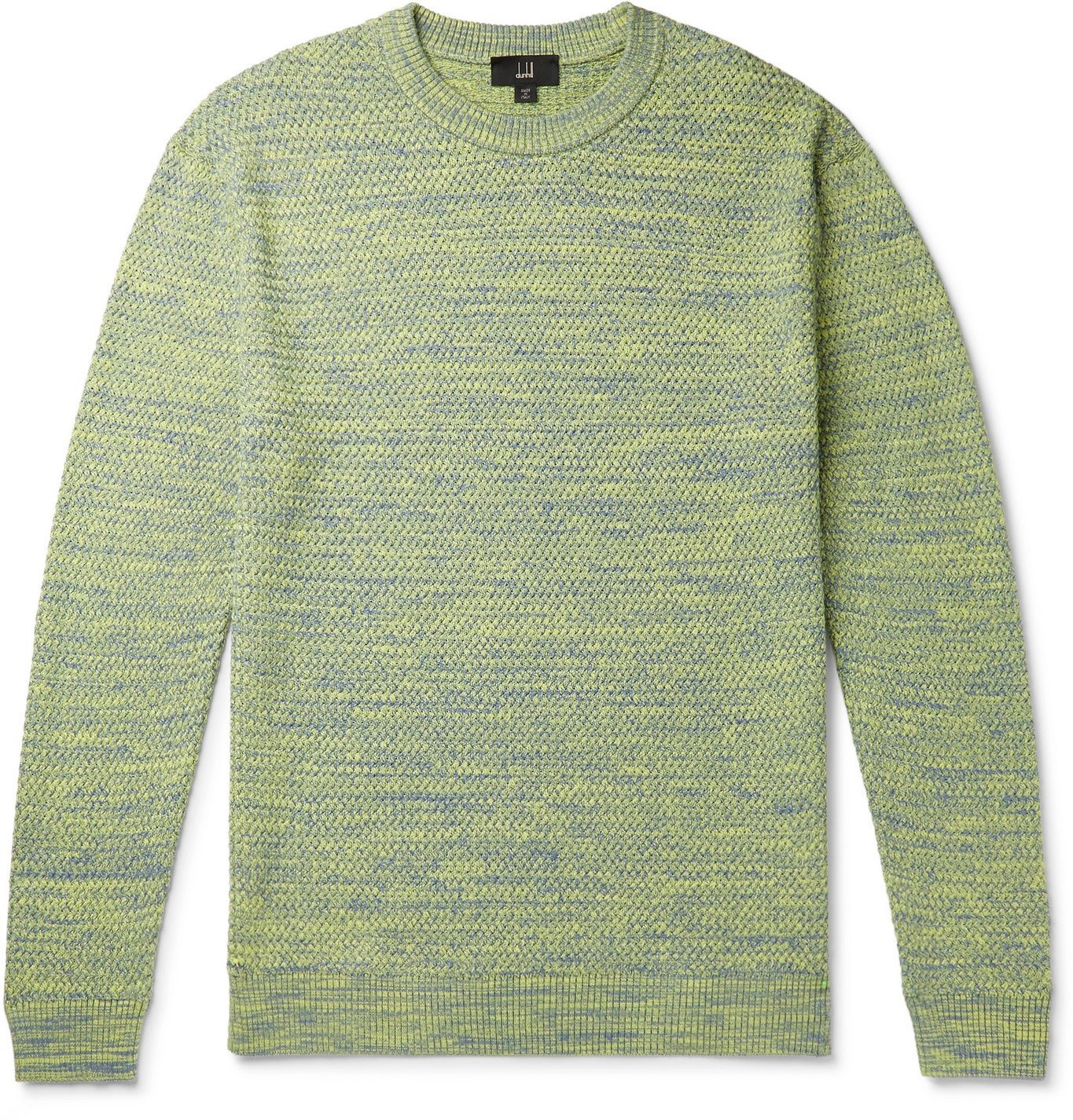 DUNHILL - Mélange Cotton Sweater - Yellow