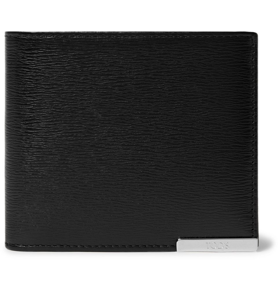Photo: Tod's - Textured-Leather Billfold Wallet - Men - Black