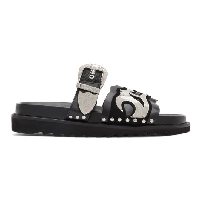 Photo: Toga Virilis Black Multi Strap Sandals