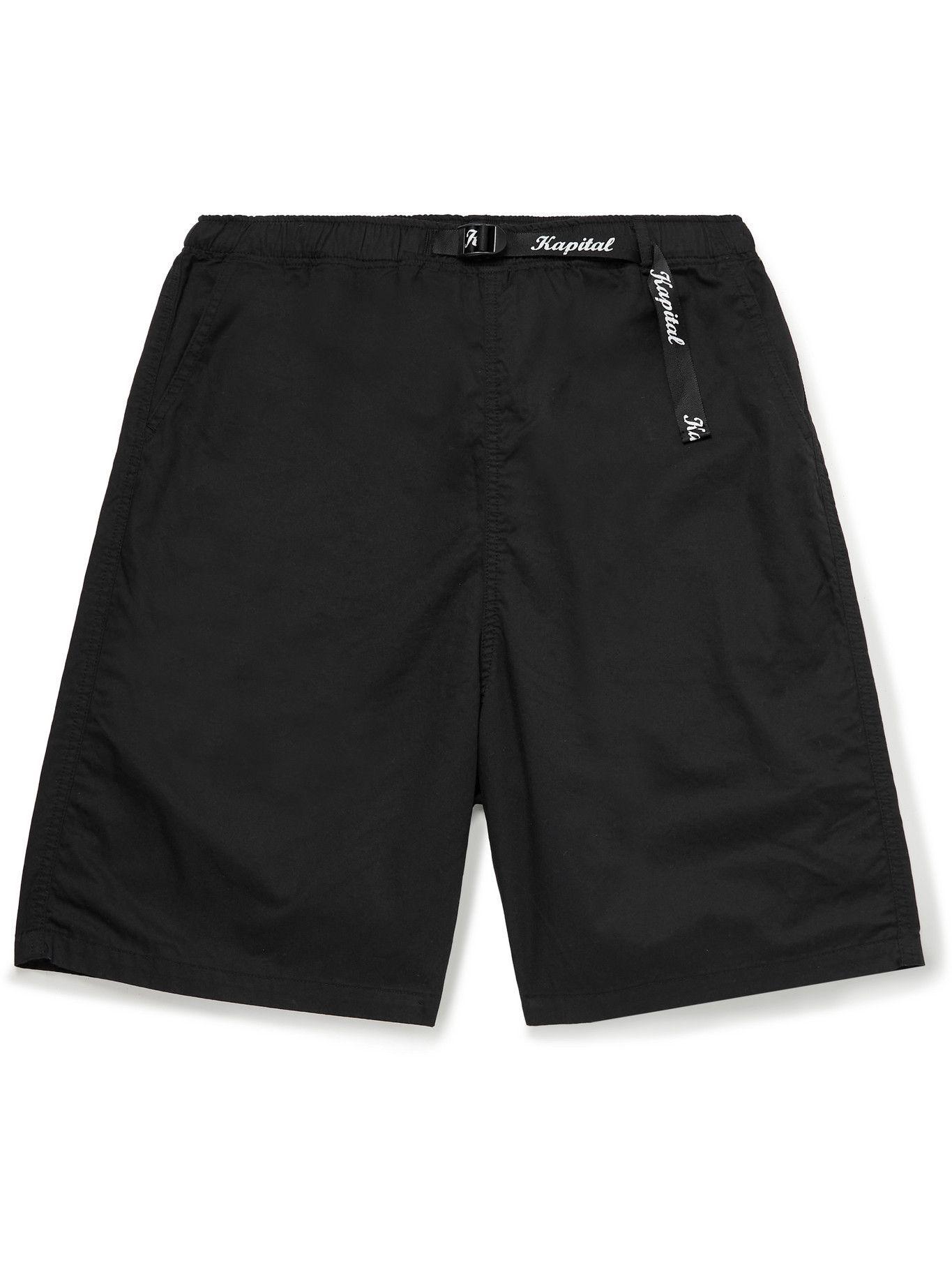 KAPITAL - Wide-Leg Printed Cotton Shorts - Unknown