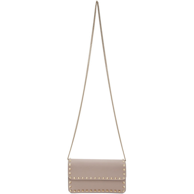 Photo: Valentino Pink Valentino Garavani Rockstud Wallet Bag