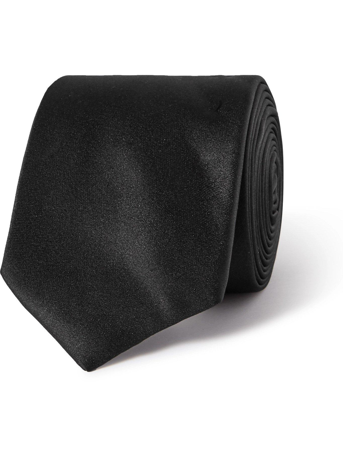 Photo: LANVIN - 7cm Silk Tie - Black