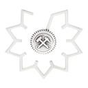 GmbH Silver Cog Side Single Ear Cuff